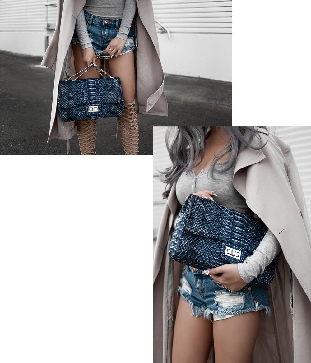 willabelle-ong-paledivision-street-style-fashion-travel-lifestyle-blog-singapore-australia-grey-outfit-editorial-gray-hair-denim-shorts-python-bag-denim-trench-4