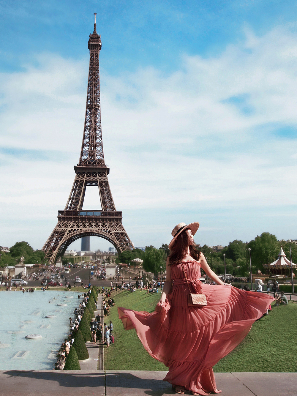 willabelle-ong-paledivision-street-style-fashion-travel-lifestyle-blog-australia-singapore-blogger-paris-france-eiffel-tower-jill-jill-stuart-chiffon-dress-chanel-bag-boater-hat-2
