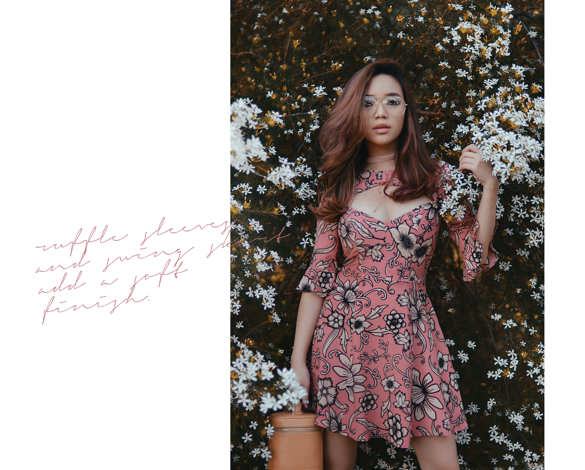willabelle-ong-paledivision-street-style-fashion-travel-lifestyle-blog-australia-perth-singapore-shopbop-for-love-and-lemons-ayla-lace-up-dress-velvet-choker-pink-florals