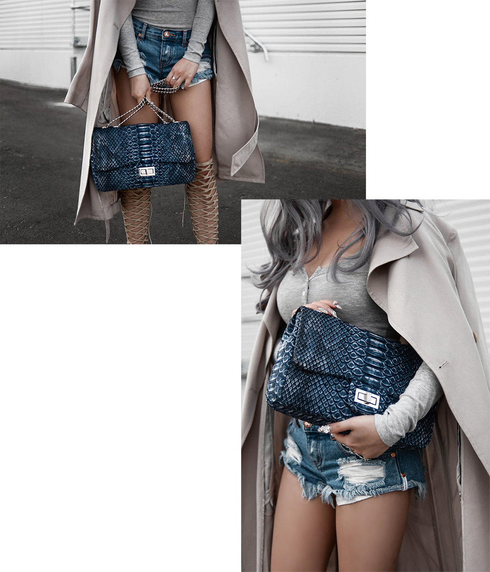 willabelle-ong-paledivision-street-style-fashion-travel-lifestyle-blog-singapore-australia-grey-outfit-editorial-gray-hair-denim-shorts-python-bag-denim-trench-4