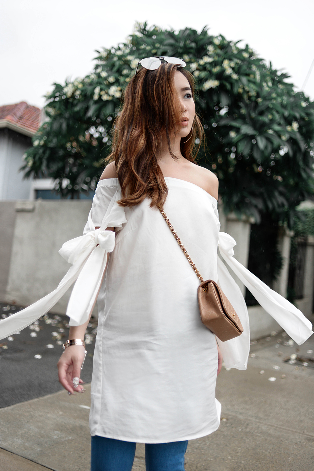 willabelle-ong-paledivision-street-style-fashion-travel-lifestyle-blog-singapore-australia-outfit-editorial-chanel-camel-mini-quilted-leather-bag-white-off-shoulder-top