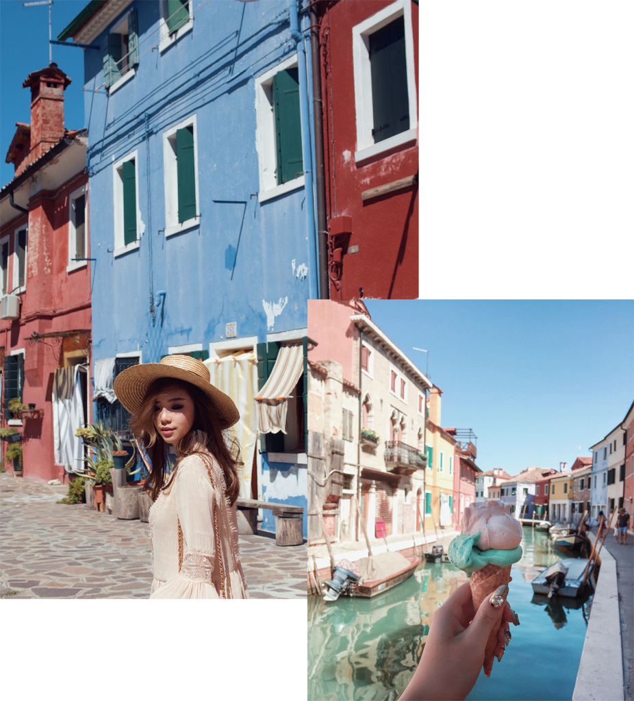 willabelle-ong-paledivision-street-style-fashion-travel-lifestyle-blog-australia-singapore-blogger-venice-italy-burano-ganni-long-sleeve-lace-high-neck-mini-dress-chanel-bag-boater-hat-2