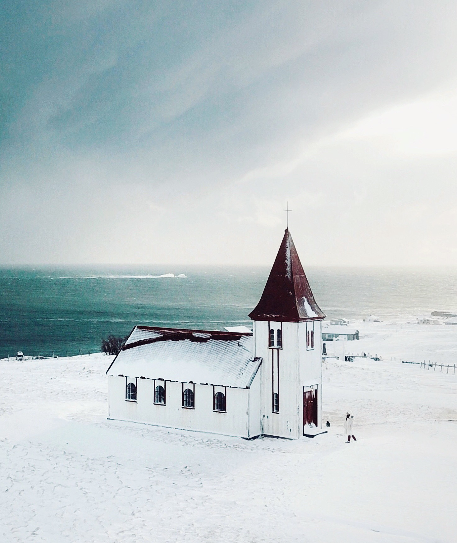 Hellnar Church, Snæfellsnes Iceland by Willabelle Ong
